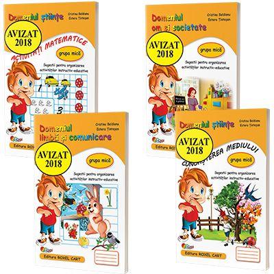 Pachet 4 carti format A4, pentru grupa mica  - Avizat M.E.N