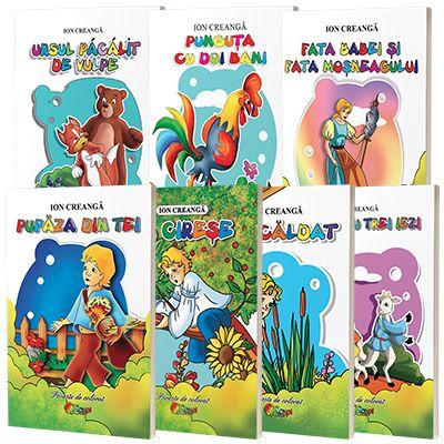 Pachet 7 carti de colorat format A5 - Povesti romanesti de Ion Creanga