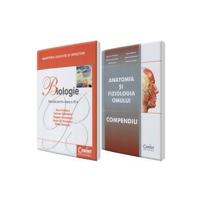 Pachet, Admitere la Facultatea de Medicina - Anatomia si Fiziologia Omului (Compendiu) si Manual de biologie pentru clasa a XI-a, Dan Cristescu