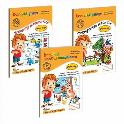 Pachet educational gradinita set de 3 carti, pentru grupa mica