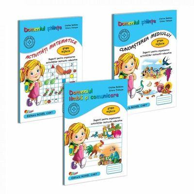 Pachet educational gradinita set de 3 carti, pentru grupa mijlocie