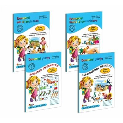 Pachet educational gradinita set de 4 carti, pentru grupa mijlocie