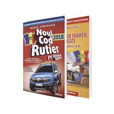 Pachet legislatie pentru permisul auto, 2018. Noul cod rutier 2018 si Intrebari de examen explicate pentru categoriile A, B, BE - Marius Stanculescu