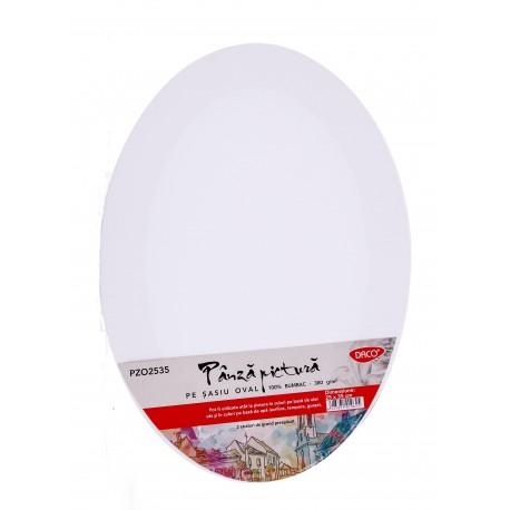 Panza pictura pe sasiu oval 25 x 35 cm, Daco PZO2535