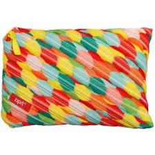 Penar cu fermoar, Zipit Colorz Jumbo - multicolor flori mari
