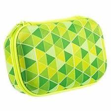 Penar cu fermoar, Zipit Colorz Storage box - triunghiuri verzi