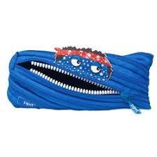 Penar cu fermoar, Zipit Talking Monster Pouch-Royal Blue