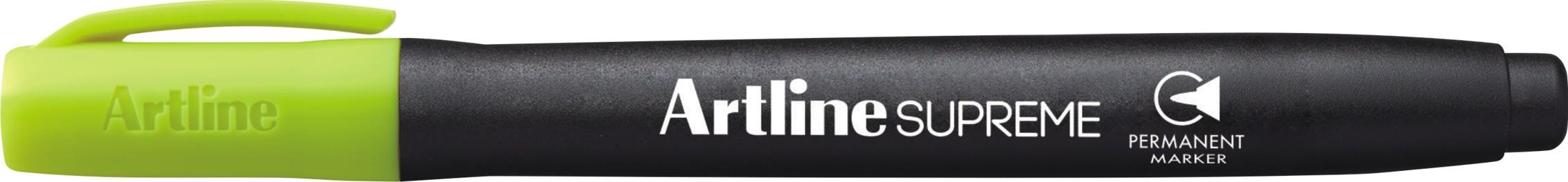 Permanent marker ARTLINE Supreme, corp plastic, varf rotund 1.0mm - galben pastel