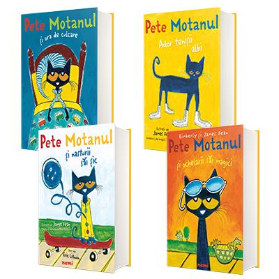 Serie de autori James Dean (ilustratii) si Eric Litwin (text) - Pete Motanul, compusa din 4 carti