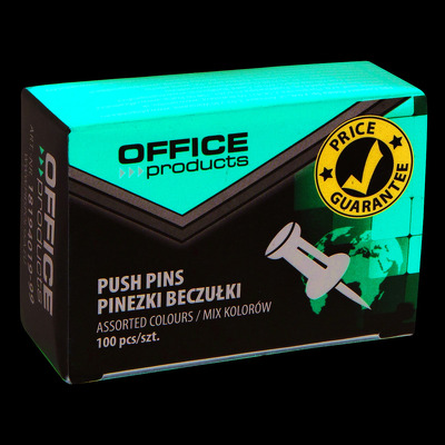 Pioneze panou pluta, 100 buc/cutie, Office Products