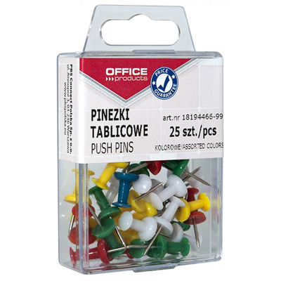 Pioneze panou pluta, 25 buc/cutie, Office Products