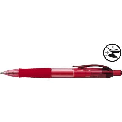 Pix cu gel Penac FX-7, rubber grip, 0.7mm, corp transparent rosu - scriere rosie