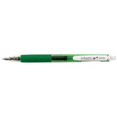 Pix cu gel Penac Inketti, rubber grip, 0.5mm, corp verde transparent - scriere verde