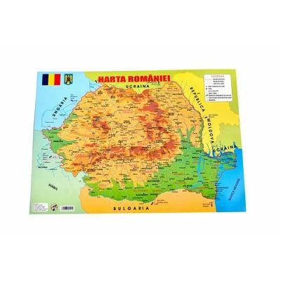 Plansa Harta Romaniei, format A3, Arhi Design