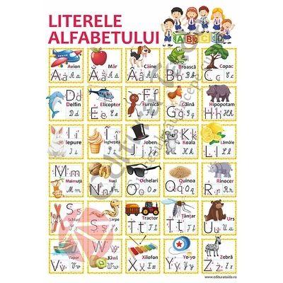 Plansa Literele alfabetului