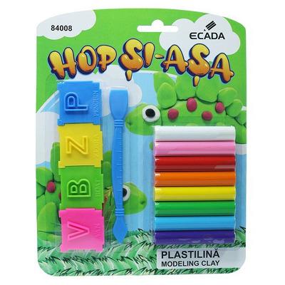 Plastilina 8 culori si  forme ECADA, 84008