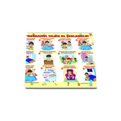 Programul zilnic al scolarului (Plansa)