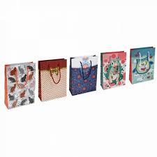 Punga de cadouri, din carton laminat, cu design, 20 x 8 x 28cm, Office Products - culori asortate