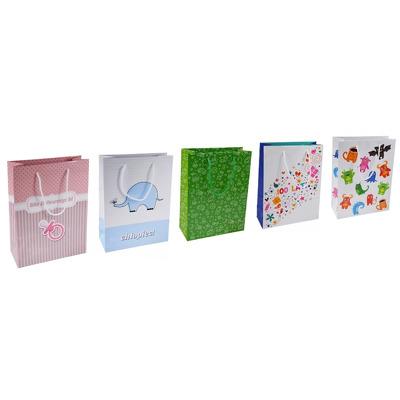 Punga de cadouri, din carton laminat, cu design pt copii, 24 x 10 x 32cm, Office Products - asortate