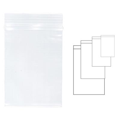 Pungi plastic cu fermoar pentru sigilare,  40 x  60 mm, 100 buc/set, Kangaro - transparente