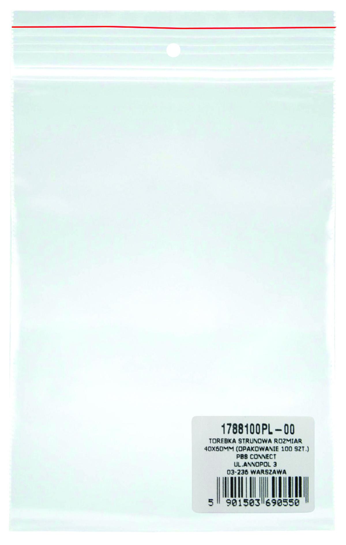 Pungi plastic cu fermoar pentru sigilare, 40 x 60 mm, 40 microni, 100 buc/set, DONAU -transparente