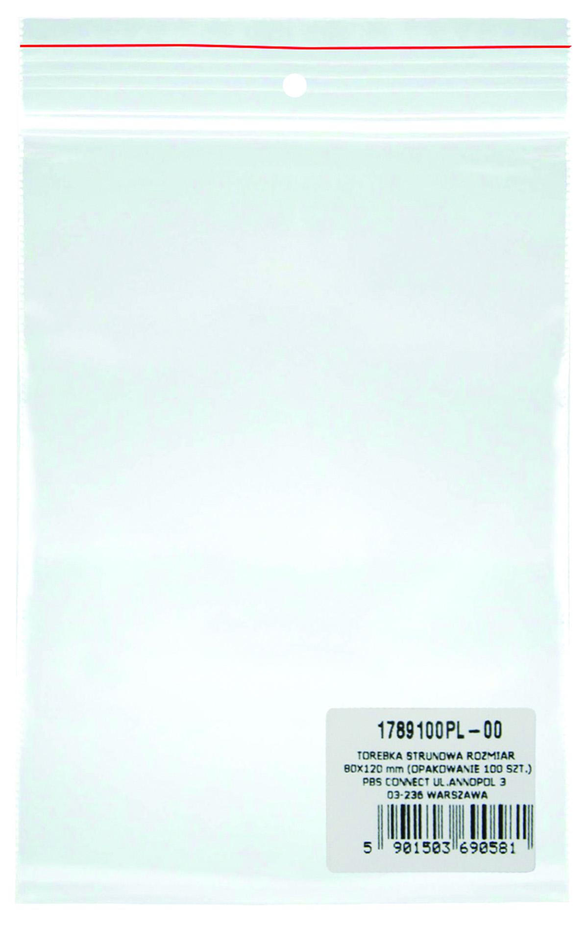 Pungi plastic cu fermoar pentru sigilare, 80 x 120 mm, 40 microni, 100 buc/set, DONAU -transparente
