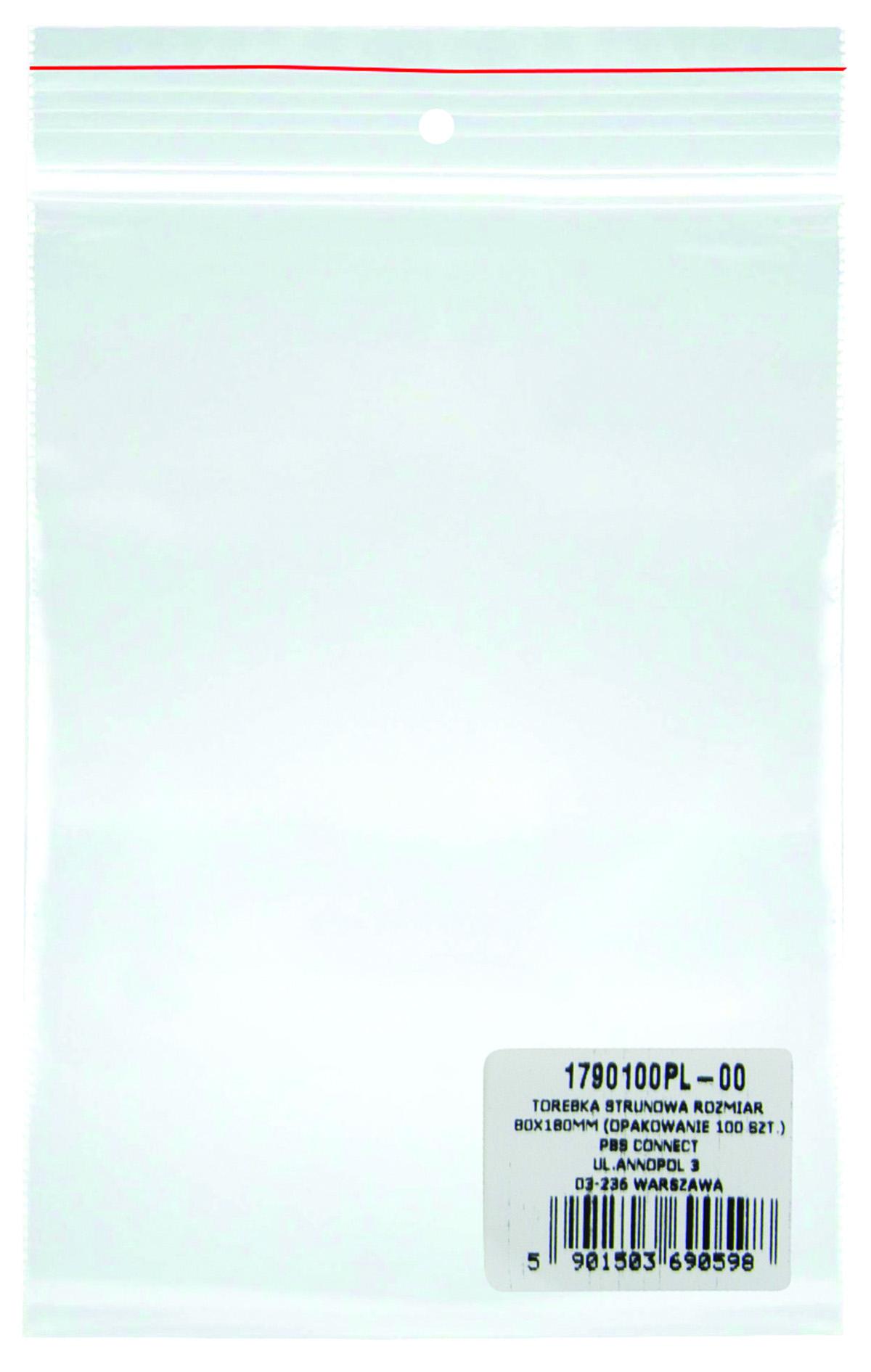 Pungi plastic cu fermoar pentru sigilare, 80 x 180 mm, 40 microni, 100 buc/set, DONAU -transparente