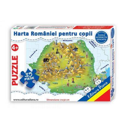 Puzzle, Harta Romaniei. 35 de piese