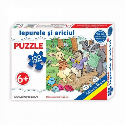 Puzzle, Iepurele si ariciul. 100 de piese