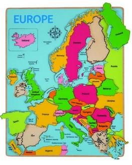 Puzzle incastru harta Europei