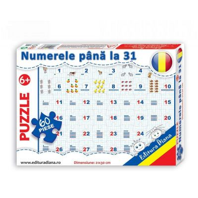 Puzzle, Numerele pana la 31. 60 de piese