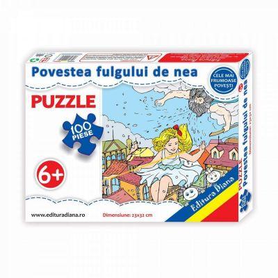 Puzzle, Povestea fulgului de nea. 35 de piese
