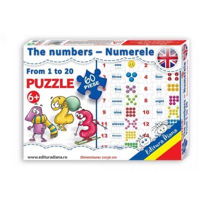 Puzzle, The numbers from 1 to 20. 60 de piese