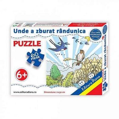 Puzzle, Unde a zburat randunica. 60 de piese