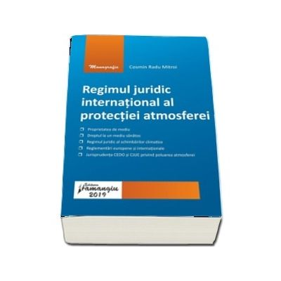 Regimul juridic international al protectiei atmosferei