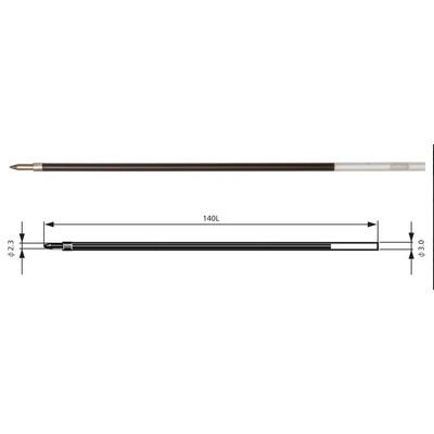 Rezerva Penac BR140, 2 buc/set, 1.6mm, pentru CH6, Soft Glider , Stick ball - negru