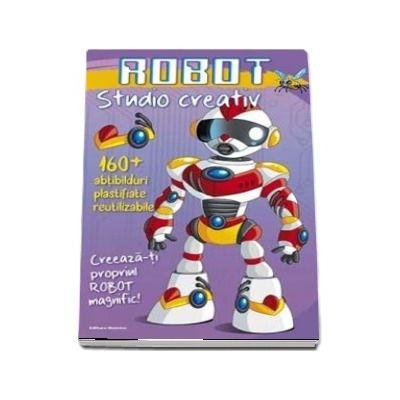 Robot - Studio creativ. 160 de abtibilduri plastifiate reutizabile. Creeaza-ti propriul Robot Magnific!