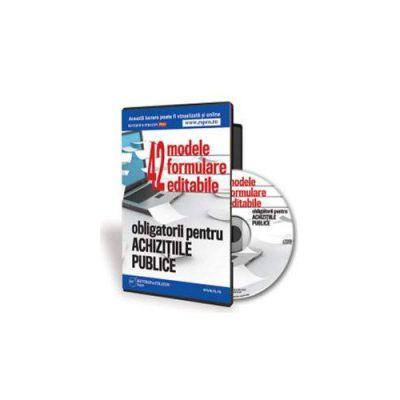 42 de formulare obligatorii pentru institutiile publice - Format CD