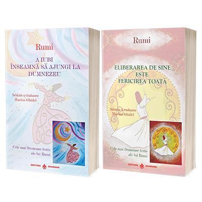 Rumi - pachet 2 carti: A iubi inseamna sa ajungi la Dumnezeu si Eliberarea de sine este fericirea toata