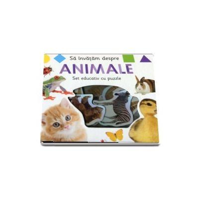 Sa invatam despre animale. Set educativ cu puzzle