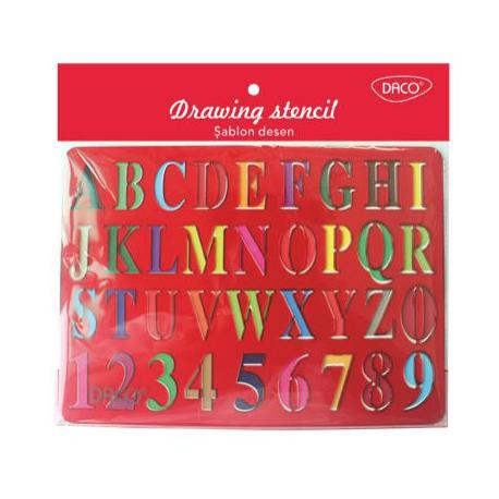 Sablon desen alfabet Daco SB002A