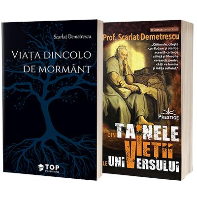 Scarlat Demetrescu set 2 carti - Viata dincolo de mormant si Din tainele vietii si ale universului
