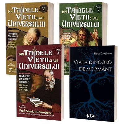 Scarlat Demetrescu set 4 carti - Din tainele vietii si ale universului. Versiune originala din 1939 si Viata dincolo de mormant