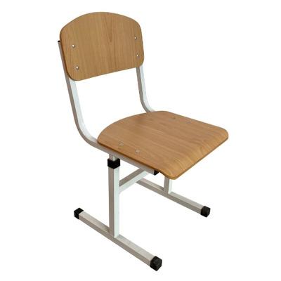 Scaun scolar, cu inaltimea reglabila, HPL, teava rectangulara gri