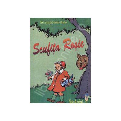 Scufita rosie - Carte de colorat