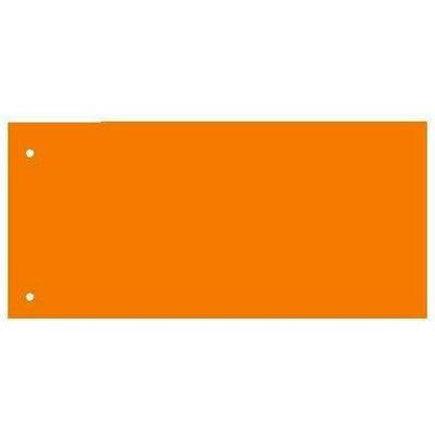 Separatoare carton pentru biblioraft, 180 g/mp, 105 x 240 mm, 100/set, Kangaro - orange