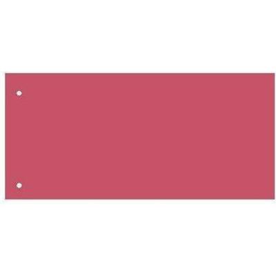 Separatoare carton pentru biblioraft, 180 g/mp, 105 x 240 mm, 100/set, Kangaro - rosu