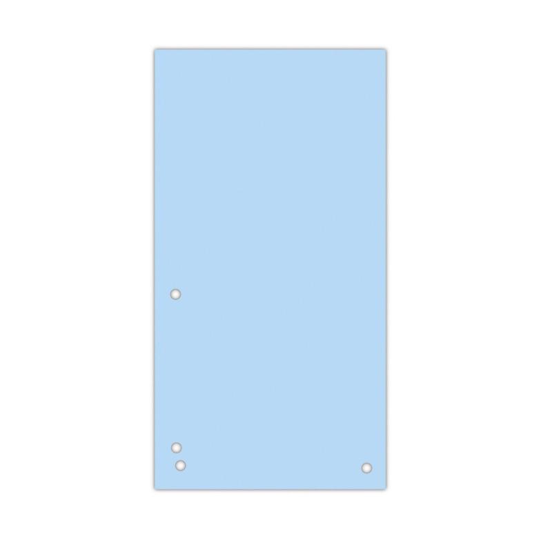 Separatoare carton pentru biblioraft, 190 g/mp, 105 x 235mm, 100/set, DONAU Duo - albastru