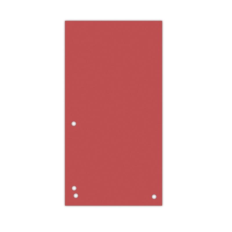 Separatoare carton pentru biblioraft, 190 g/mp, 105 x 235mm, 100/set, DONAU Duo - rosu