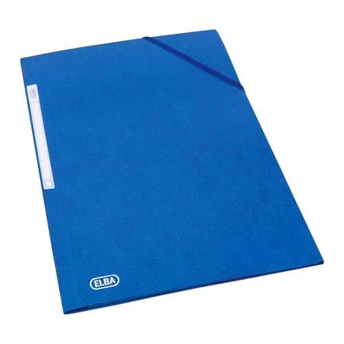 Separatoare carton pentru biblioraft, 190g/mp, 105 x 240 mm, 100/set, ELBA - albastru